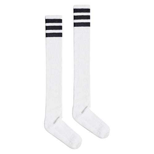 American Apparel Women#039s Stripe ThighHigh Socks White/Black One Size
