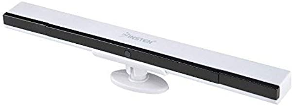 Insten Wireless Sensor Bar Compatible With Nintendo Wii / Wii U (with Stand) Replacement Infrared IR Ray Motion Sensor Bar