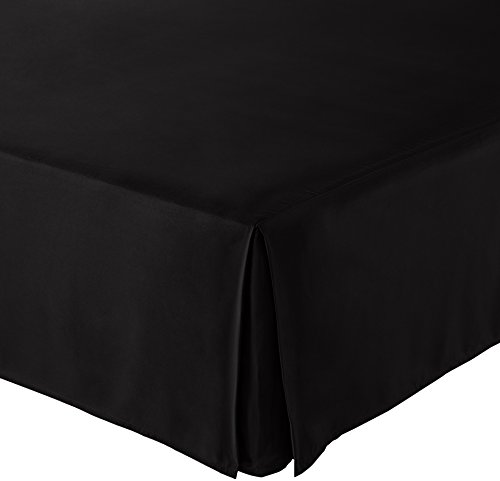 AmazonBasics Pleated Bed Skirt – King, Black