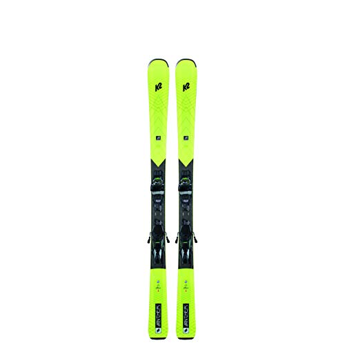 K2 - Pack Ski Anthem 82 + Fixations Erc 11 TCX Light Quikclik -Black-Yell Set Femme - Femme - Taille 153 - Jaune