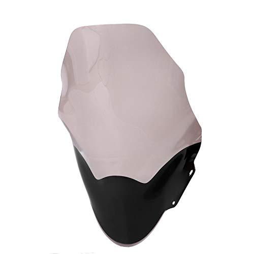 Shipenophy Deflector de Viento para Moto Parabrisas a Prueba de Golpes Durable Práctico Parabrisas de PC para Proteger Seguridad para Calentar para Bloquear el Viento frío para(Smoke)