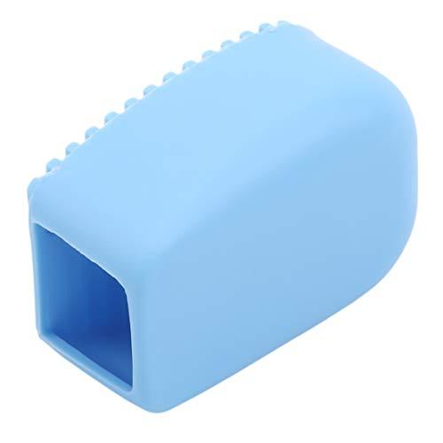 Kissherely Brosse de Lavage épaisse à Main en Silicone Souple Mini-Planche à Laver de Couleur Bonbon pour Chemises de Planche à Laver Nettoyage de blanchisserie,Bleu