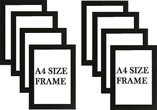 Stuthi Arts A4 Size Wood Wall MDF Photo Frame (Black,8 Photos, Documents)