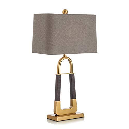 Tablelamp-SZQ Lámpara De Mesa Nórdica, Lámpara De Mesa De Metal Dormitorio De Habitación Lámpara De Noche Marrón Lámpara Decoración Iluminación E27 Lámpara De Mesa(Size:40 * 72CM,Color:Oro)