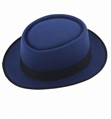 HEHEXIY 9 Colori Unisex Donna Uomo Cappello da Sole Fedora Felt HatBlueBeach Cappelli Wide Brim Floppy Packable Regolabile