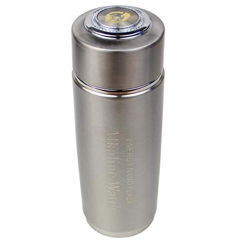 Alkaline Energy Flask Ionizer Water Bottle with Case (Silver)