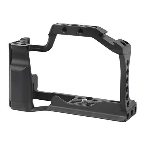 Jaula para cámara de aleación de Aluminio - Jaula para cámara de vlog de grabación de fotografías - con Zapata fría - para cámaras sin Espejo Canon EOS-M5 / M50