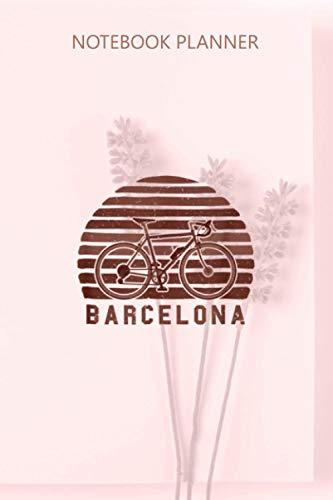 Notebook Planner Vintage Retro Bike Barcelona Spain Cyclist: To Do List, Financial,...