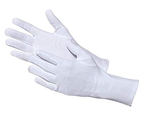 Jah 3203 Baumwollhandschuh 12 Paar oekotex weiß leicht Gr. 9