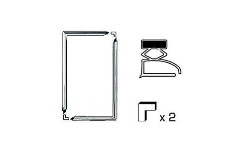 Set 2 Dichtungen A Sohle L 1300 x 700 mm Referenznummer: 00122045 für Kühlschrank, verschiedene Marken