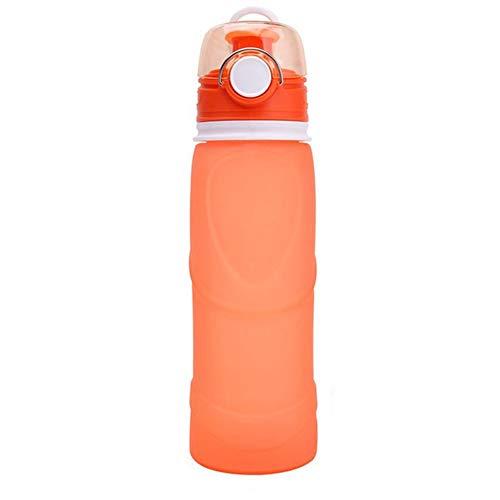 Botella Botella Termo Termo Agua Fria Vaso Termico Cafe Botella Bicicleta Botellas Bpa Free para NiñOs & Adultos Deport Oficina Yoga Ciclismo Orange,750ml