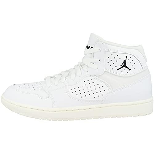 Nike Jordan Access, Baskets Hautes Homme, Multicolore (White/White-Pale Ivory-Metallic Gold 100), 45 EU