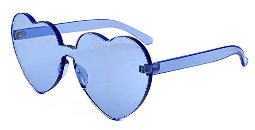 KIRALOVE Gafas de sol vintage para mujer - divertidas - sin montura - transparentes - niña - polarizadas - color azul