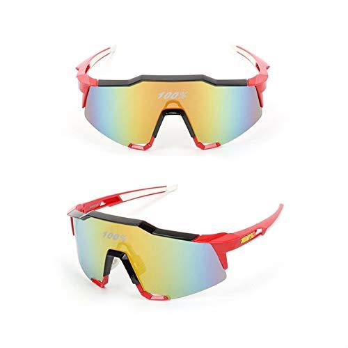 HBGGGGG Gafas de Sol polarizadas Gafas de Deportes Riding Vasos TR90 Ultra Ligero Marco Y PC Lente de la protección UV400 for los Hombres y Las Mujeres (Color : E)