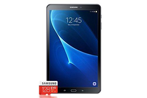 Samsung Galaxy Tab A T580 25,54 cm (10,1 Zoll) Tablet-PC (1,6 GHz Octa-Core, 2GB RAM, 32GB eMMC, Wifi, Android 6.0) schwarz + Samsung Evo Plus Micro SDXC 128GB
