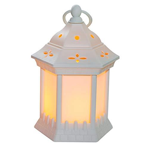 catyrre Halloween LED Flammenlampe, Portable Vintage Hanging Wind Light LED Candle, Halloween Party Lantern liefert Dekoration