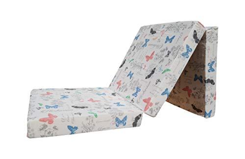 Natalia Spzoo Cama de invitados, colchón plegable 195 x 65 x 10 cm cubierta de 100% algodón (Glory)
