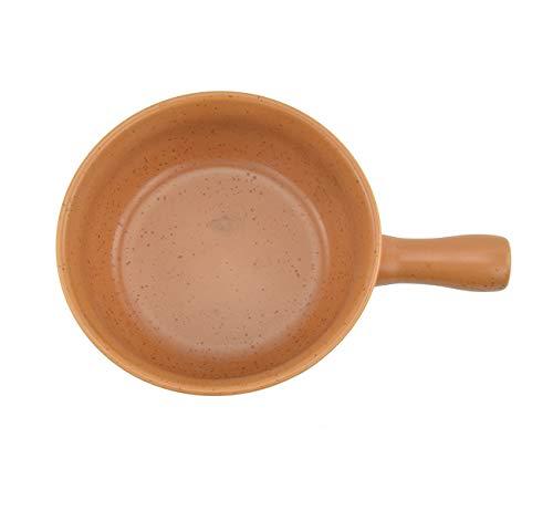 HASAYAKI Cacerola de cerámica ignífuga para fondue de queso,amarilla,22,5 cm de...
