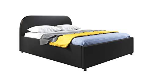 muebles bonitos Cama de Matrimonio con canapé Lexy en Color Negro (150x190cm)