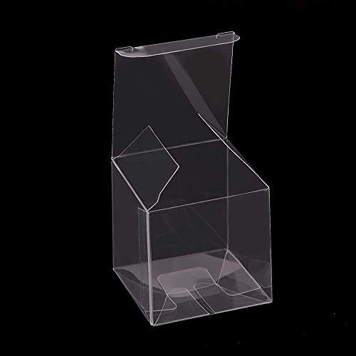 100 Stück Clear Candy Box PVC Plastikwürfel Geschenkverpackung Hochzeitsbevorzugung Sweet 5cmx 5cmx 5cm