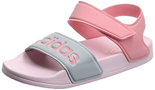 adidas Adilette Sandal K, Chaussure de Piste d'athltisme, Clear Pink Super Pop Silver Met, 34 EU
