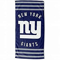 The Northwest Company NFL NY Giants Beach Towel, Blue, 30 x 60