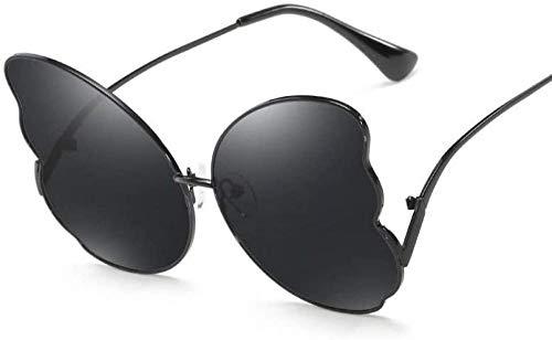 ZYIZEE Gafas de Sol Gafas de Sol de Gran tamaño para Mujer con Forma de Pluma Montura de aleación Gafas de Sol para Mujer Gafas de Mariposa Gafas-1