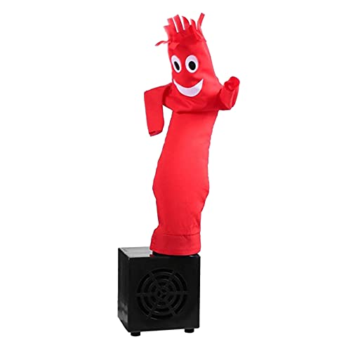 Nobranded 10inch Air Puppet Dancer Tube Man Fly Guy Puppet Dancer Mini Inflatable Dancing Star Decorations (Red)