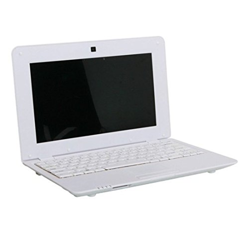 Fancy Cherry® Nueva 2017 HD 10 Pulgadas Mini Laptop Notebook Netbook Tablet Computer 1 G DDR3 través WM8880 CPU Dual Core Android de Pantalla Cámara WiFi Teclado USB HDMI Netbook (Netbook 8G-Weiß)