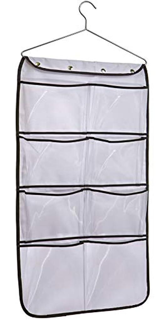 MISSLO Durable Hanging Closet Double Sided Bra Stocking Clothes Socks Organizer 15 Large Mesh Pockets, White