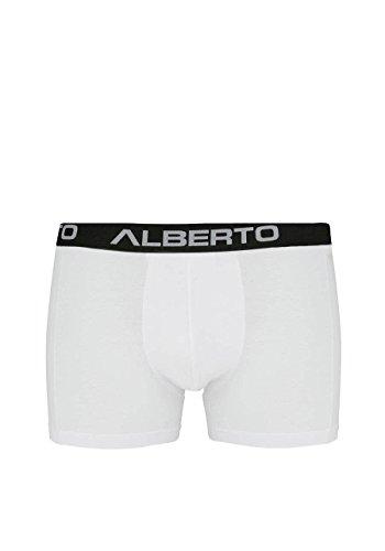 ALBERTO Pants mit Gummibund und Teilungsnaht Hero weiß