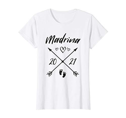 Donna Madrina 2021 Loading Neonato Incinta Gravidanza Futur Maglietta