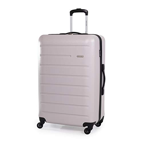 Pierre Cardin 30 Inch Voyager Hard Suitcase - Travel Luggage with 4 Spinner Wheels | Telescopic Drag Handle | Suitcases Weighing 4.1kg Cap 102L Height 76cm CL893 (Light Grey, Large)