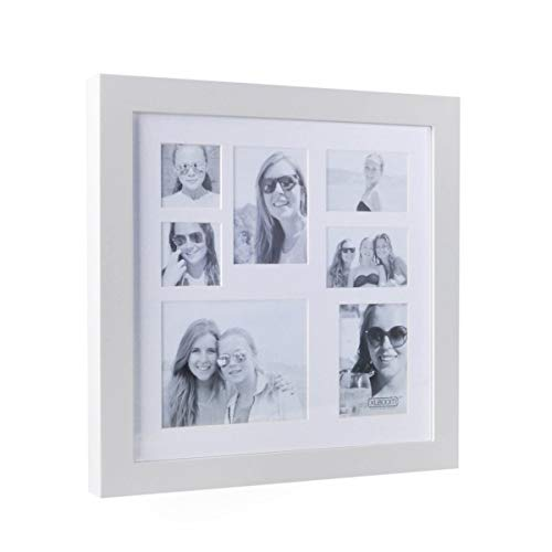 XL Boom Cadre Photo Multi-Photos pour 7 Photos Blanc