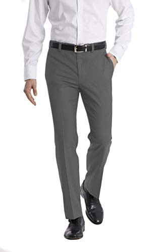 Calvin Klein Men's Modern Fit Dress Pant, Medium Grey, 34W x 30L