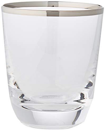 Cristal de Sèvres Margot Whisky Gläser-Set, Glas, Platin, 9x 9x 10cm, 2Stück