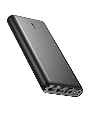 Anker Power Bank, PowerCore 26800mAh Portable Charger with Dual Input Port and Double-Speed Recharging, 3 USB Ports External Battery for iPhone, iPad, Galaxy, Android and Other Smart Devices