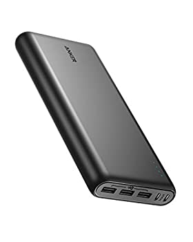 Anker PowerCore 26800 Portable Charger 26800mAh External Battery with Dual Input Port and Double-Speed Recharging 3 USB Ports for iPhone iPad Samsung Galaxy Android and Other Smart Devices