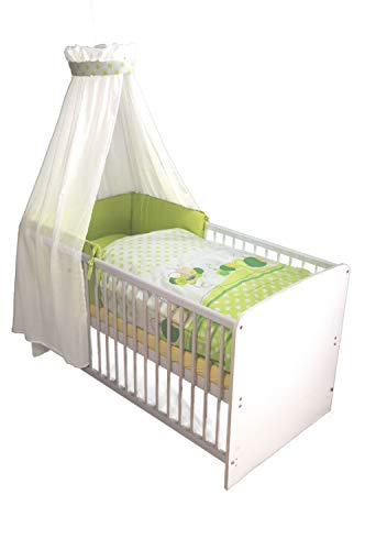 Kuli-Muli 18712 Baby Complete bed set Willy 100/135 cm 4-delig, eierschaalkleur