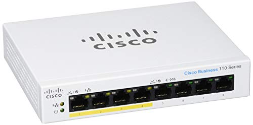 Cisco Business CBS1108PPD Unmanaged Switch | 8 Port GE | Partial PoE | Desktop | Ext PS | Limited Lifetime Protection CBS1108PPD