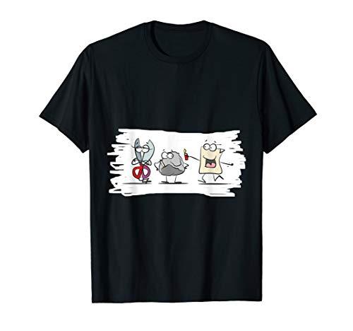 Schere, Stein, Papier Lustiges Geschenk Fun T-Shirt