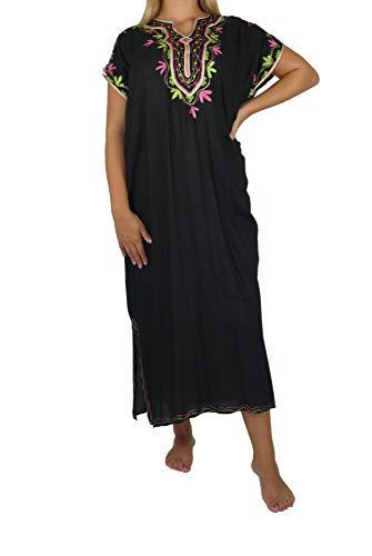Marrakech Accessoires Orientalisches Kleid Kaftan Tunikakleid Strandkleid Sommerkleid Maxi - 905762-0003, Grösse:XL