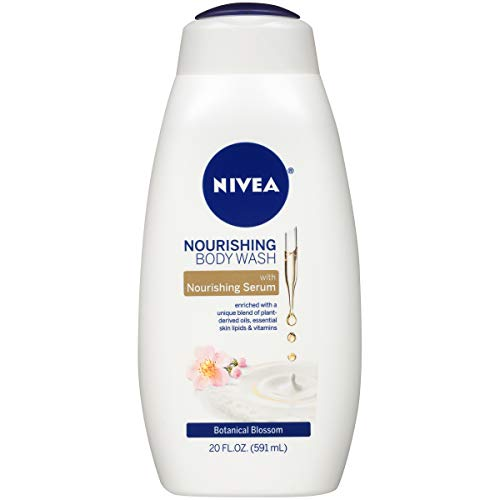 NIVEA Nourishing Botanical Blossom Body Wash - with Nourishing Serum - 20 Fl. Oz. Bottle