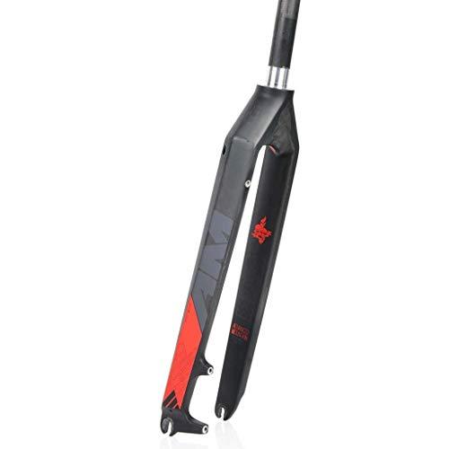 Horquilla Delantera, suspensión Horquilla de Bicicleta MTB de Fibra de Carbono Completa,...