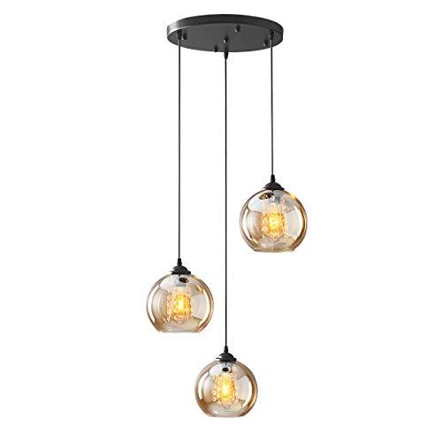 H.W.S LáMpara Colgante De Cristal DiseñO Bola Moderna Creativa DecoracióN Interior Ajustable En Altura Luminaria Sala...