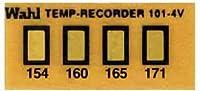Wahl Instruments 真空用テンプ・プレート(不可逆性) 4点表示 101-4V-154
