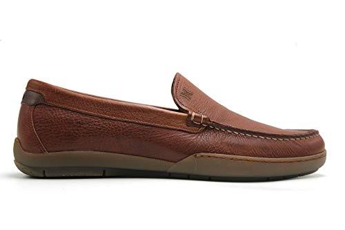 CALLAGHAN - Zapato mocasín de Piel, sin Cordones, Plano, Suela de Goma, Plantilla Extraible, para: Hombre Color: Cuero Talla:42
