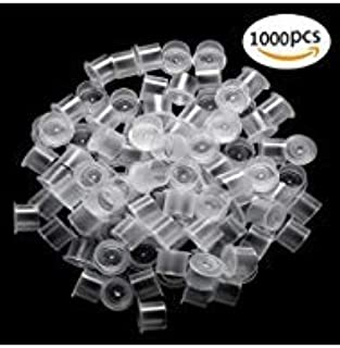 Tattoo Ink Caps Small - CINRA 1000Pcs Hot Sale White Plastic Disposable Microblading Makeup Tattoo Ink Cups With Base, Pigment Ink Caps Sizes for Tattoo Ink,Tattoo Kits,Tattoo Supplies (11mm-1000pcs)