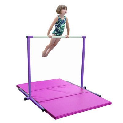 Nimble Sports 4 Feet High Purple Horizontal Bar and 4 Feet X...