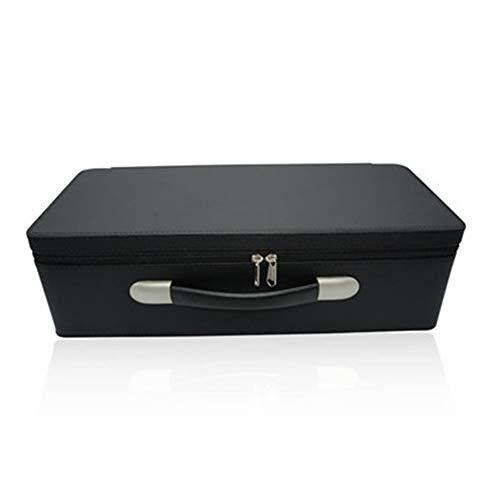 Maleta antigua Joyería portable de la joyería caja Maleta Calidad franela Europea caja de almacenamiento de la PU de cuero de la joyería caja de visualización Caja de almacenamiento de la vendimia del